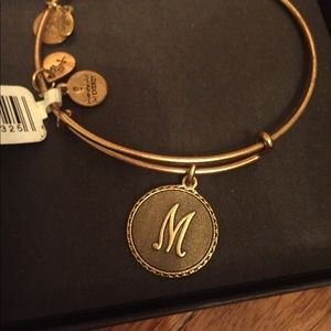 Alex and Ani Gold M Initial Bracelet